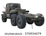 old russian military truck... | Shutterstock . vector #570954079
