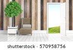 modern bright interior with... | Shutterstock . vector #570958756