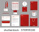 corporate identity design mock... | Shutterstock .eps vector #570959230