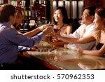 men and women sitting around... | Shutterstock . vector #570962353