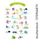 vector english alphabet for... | Shutterstock .eps vector #570966874