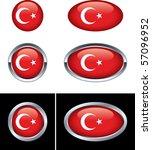 turkish flag buttons   Shutterstock .eps vector #57096952