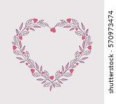 vector illustration of hearts ... | Shutterstock .eps vector #570973474