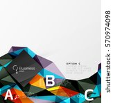 low poly polygonal triangle... | Shutterstock .eps vector #570974098