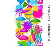 happy holi colorful seamless... | Shutterstock .eps vector #570975160