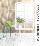 modern bright interior with... | Shutterstock . vector #570977278