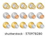vector illustration of gold ... | Shutterstock .eps vector #570978280
