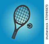 tennis icon. tennis vector... | Shutterstock .eps vector #570985870