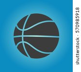 basketball ball icon.... | Shutterstock .eps vector #570985918
