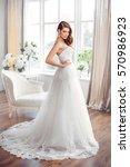 wedding fashion bride. perfect... | Shutterstock . vector #570986923
