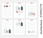 recipe cards. cooking card... | Shutterstock .eps vector #570992770
