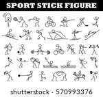 cartoon icons sport set of... | Shutterstock .eps vector #570993376