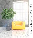 modern bright interior with... | Shutterstock . vector #570994750