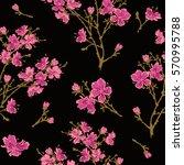 seamless pattern   bouquet  ... | Shutterstock .eps vector #570995788