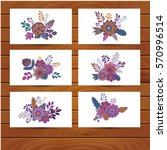 floral bouquet icon vector... | Shutterstock .eps vector #570996514