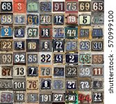 house numbers in different... | Shutterstock . vector #570999100