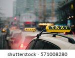 typical generic taxi sign on... | Shutterstock . vector #571008280