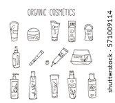 cosmetic bottles. organic... | Shutterstock . vector #571009114