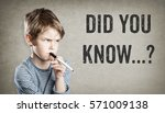 boy asking did you know  on... | Shutterstock . vector #571009138