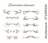 hand drawn divders set.... | Shutterstock . vector #571009354