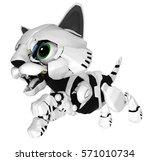 Robotic Kitten Leaping  3d...