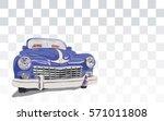 blue retro vintage old timer...   Shutterstock .eps vector #571011808