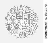 chemistry line round... | Shutterstock .eps vector #571012870