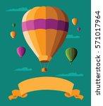 flat design hot air balloons...   Shutterstock . vector #571017964