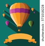 flat design hot air balloons...   Shutterstock . vector #571018228