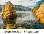natural reserve of illes medes... | Shutterstock . vector #571018684