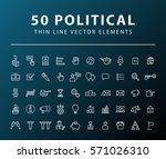 set of 50 minimal thin line... | Shutterstock .eps vector #571026310