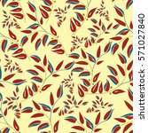 seamless floral pattern with... | Shutterstock .eps vector #571027840