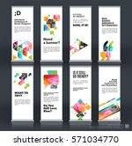 mega set. abstract business... | Shutterstock .eps vector #571034770