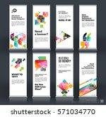 mega set. abstract business... | Shutterstock .eps vector #571034770
