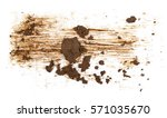 drops of mud sprayed isolated... | Shutterstock . vector #571035670