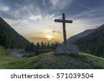 Wooden Cross And Colorful...