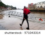 long exposure image of a man in ...   Shutterstock . vector #571043314