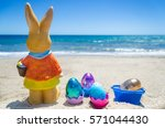 Easter Bunny With Color Eggs O...