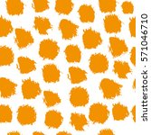seamless pattern with brush... | Shutterstock .eps vector #571046710