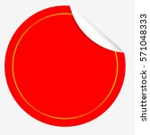circle red tag with curl effect ...   Shutterstock .eps vector #571048333