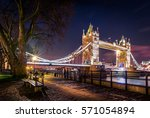 london's icon view of tower... | Shutterstock . vector #571054894
