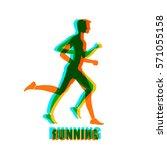 running mar people run  health... | Shutterstock .eps vector #571055158