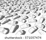 3d illustration of many wihte... | Shutterstock .eps vector #571057474