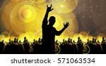 party  dancing people | Shutterstock .eps vector #571063534