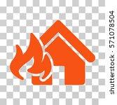 fire damage icon. vector... | Shutterstock .eps vector #571078504