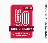 60th anniversary logo. vector... | Shutterstock .eps vector #571078780