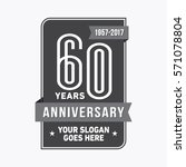 60th anniversary logo. vector... | Shutterstock .eps vector #571078804