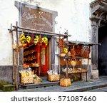 sorrento  italy   march 23 ... | Shutterstock . vector #571087660