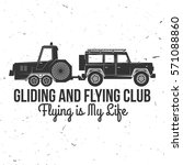 vector gliding club retro badge.... | Shutterstock .eps vector #571088860