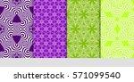 creative set of decorative... | Shutterstock .eps vector #571099540